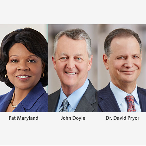 Ascension Leaders: Maryland, Doyle and Pryor